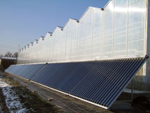 solar greenhouse heating