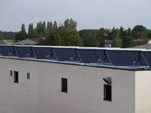 Solar process heat for galvanik company